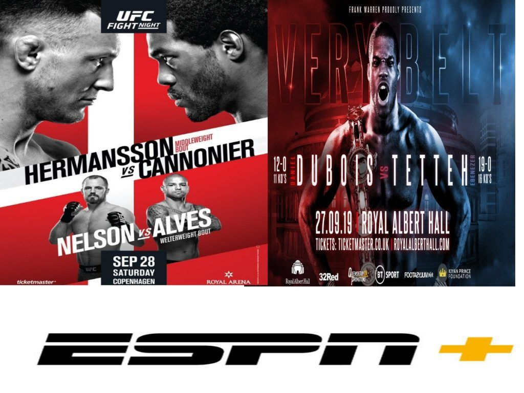 THIS WEEK'S BOXING & MMA ON ESPN PLUS UFC FIGHT NIGHT