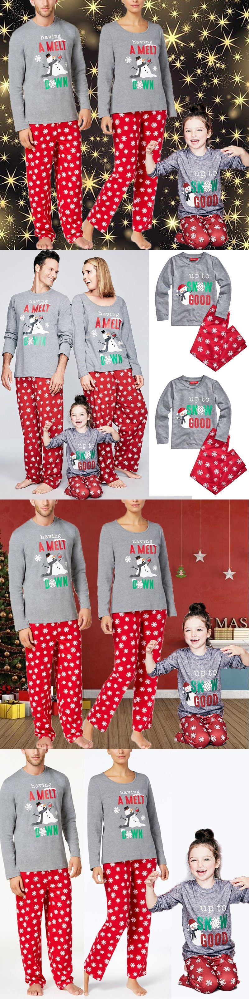 5f5b0394b4 Family Matching pyjamas Set Xmas Family Match Pajamas Set 2017 New Arrival  Hot Christmas Adult Women