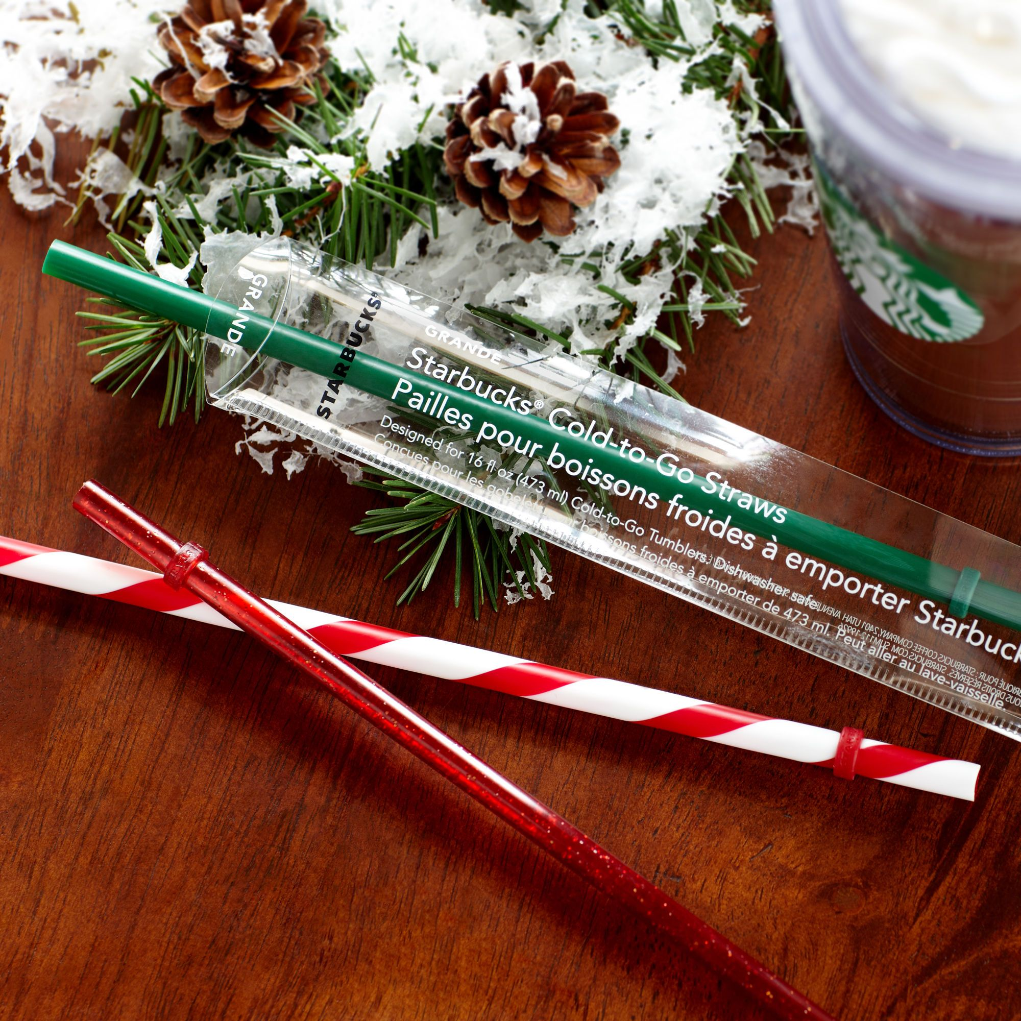 Starbucks® Holiday Cold Cup Straws Grande 3.95 Cold