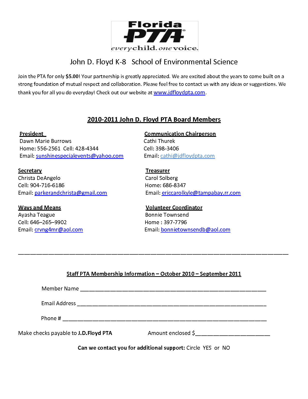 PTA Membership Form | PTA | Pinterest | Pta
