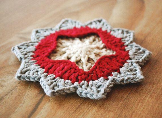 Star Christmas Star Ornaments Crochet Star Crochet Applique