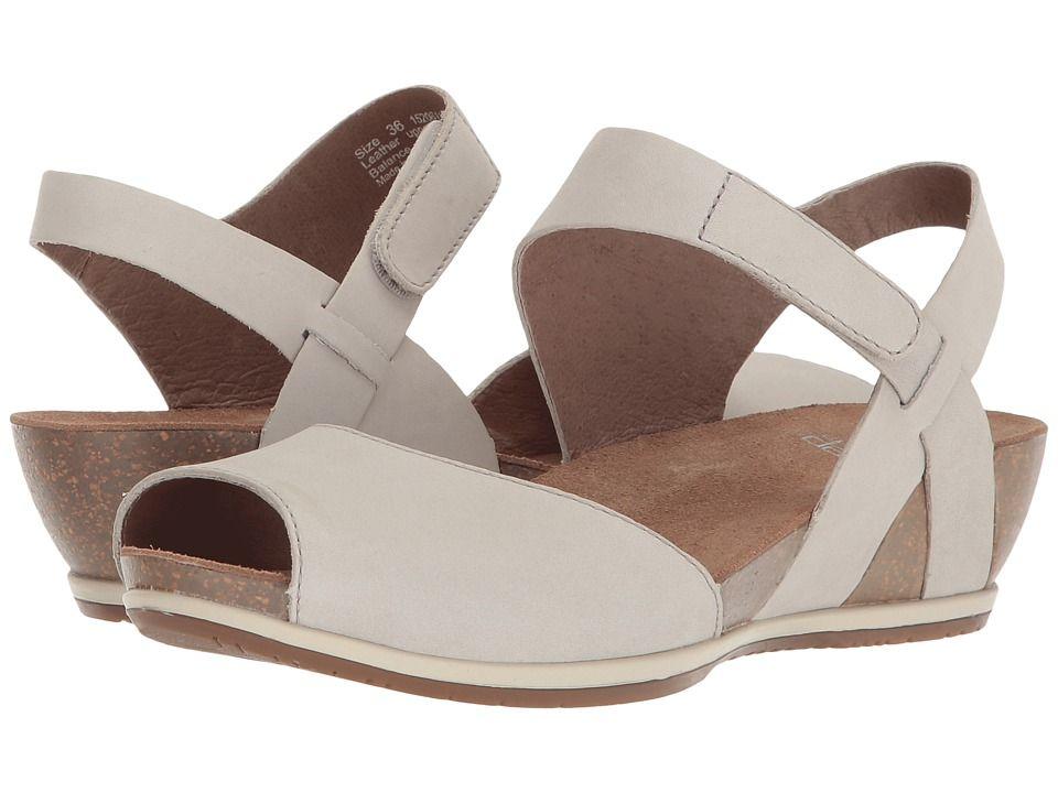 Dansko Vera Women S Shoes Oyster Milled Nubuck Peep Toe
