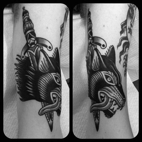 2b8c5df86cb3a 70 Traditional Dagger Tattoo Designs For Men - Sharp Ink Ideas | Ink ...