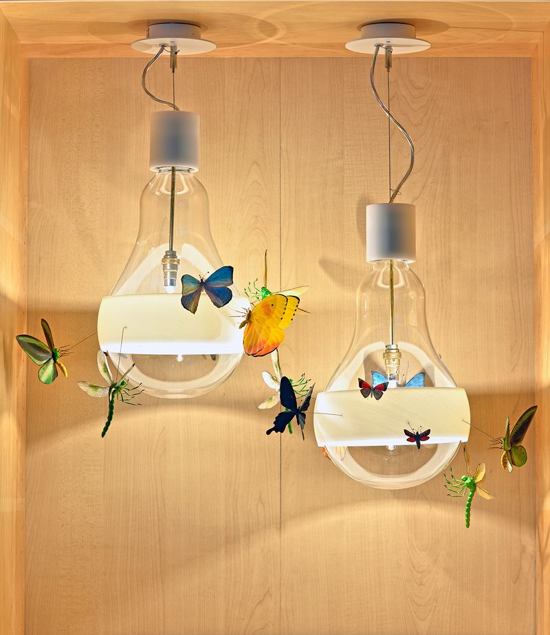 Ingo Maurer JB Schmetterling Butterfly Lamps And Graham Owen   Artistic  Butterfly Replicas Line Each Of