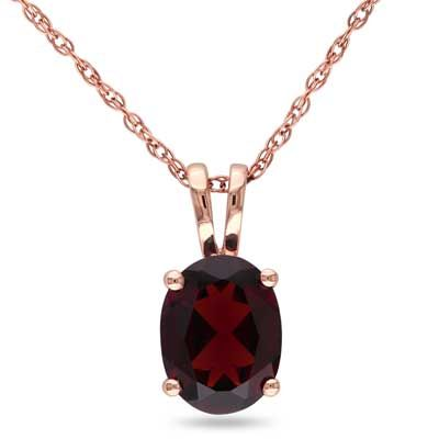 Oval garnet pendant in 10k rose gold 17 lookin for in white oval garnet pendant in 10k rose gold 17 aloadofball Image collections