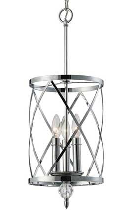 Vanessa 3 Light Chandelier Chrome Clear Crystal Takes Three 60w