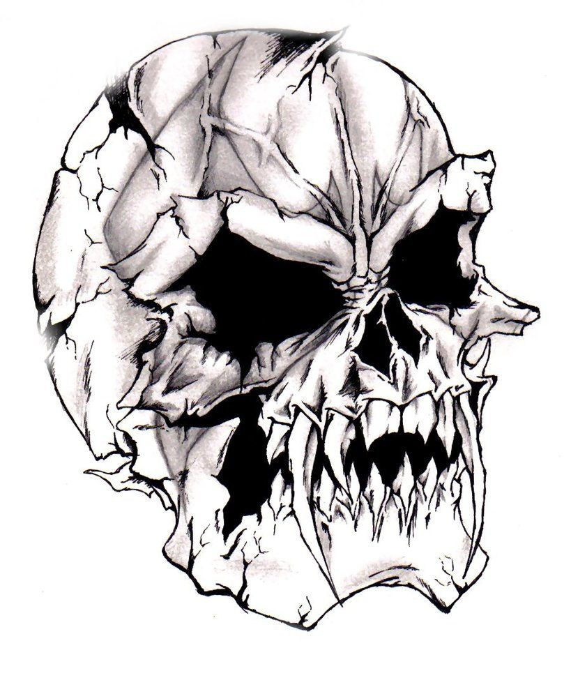 Evil Skull Tattoo Designs My Favourite Evil Skull Tattoo Designs Skulls Drawing Vampire Skull Skull And Rose Drawing