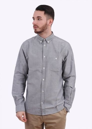Norse Projects Anton Oxford Shirt - Grey