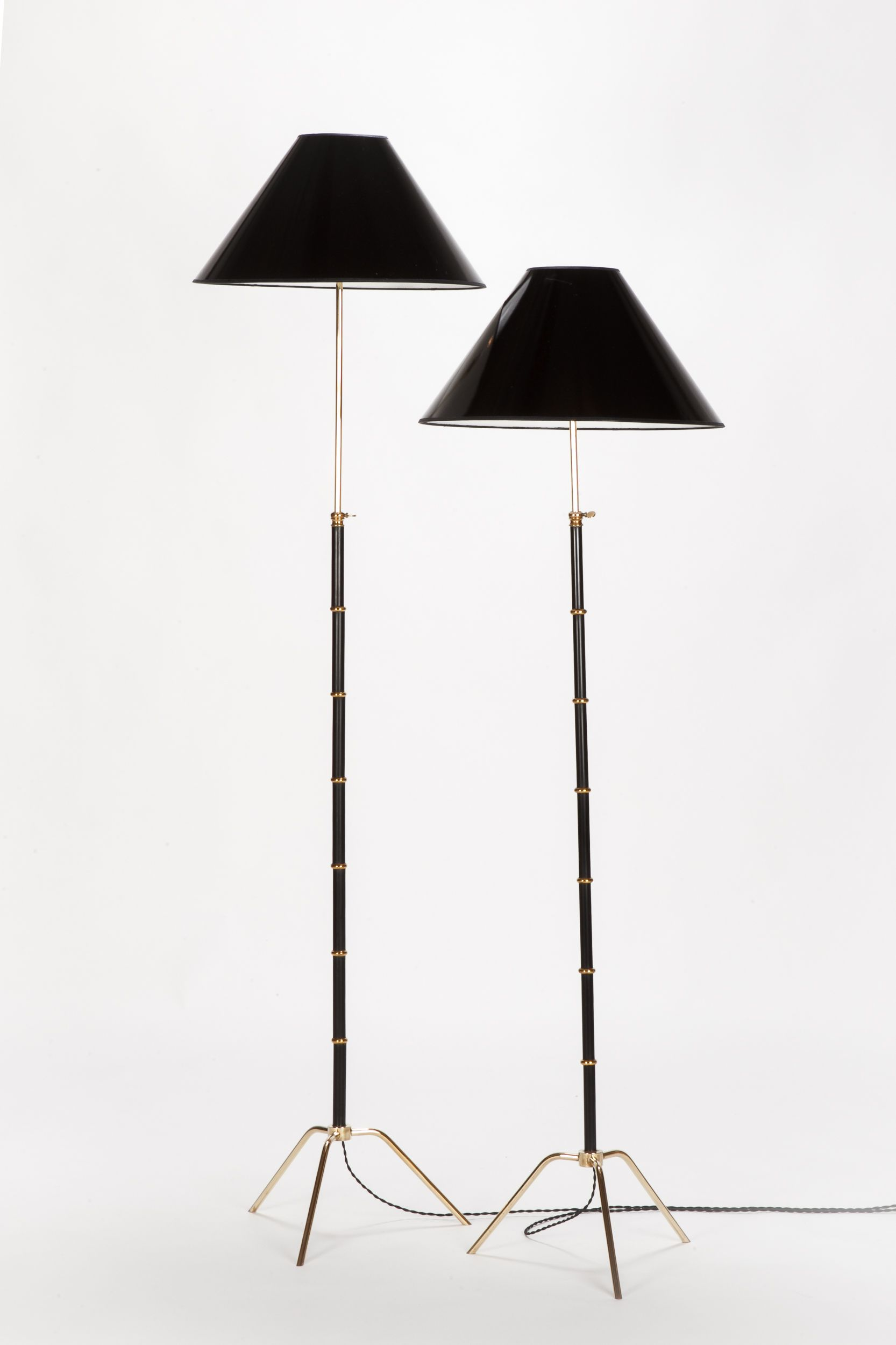 Paar Franzosische Stehlampen Maison Lunel 50er Okay Art Stehlampe Lampe Lampenschirm