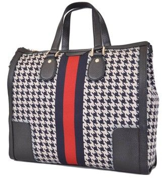 6b0e6e74db8 Gucci 271624 Seventies Houndstooth Poule Web Stripe Large New Multi-Color Tote  Bag. Get one of the hottest styles of the season! The Gucci 271624 Seventies  ...