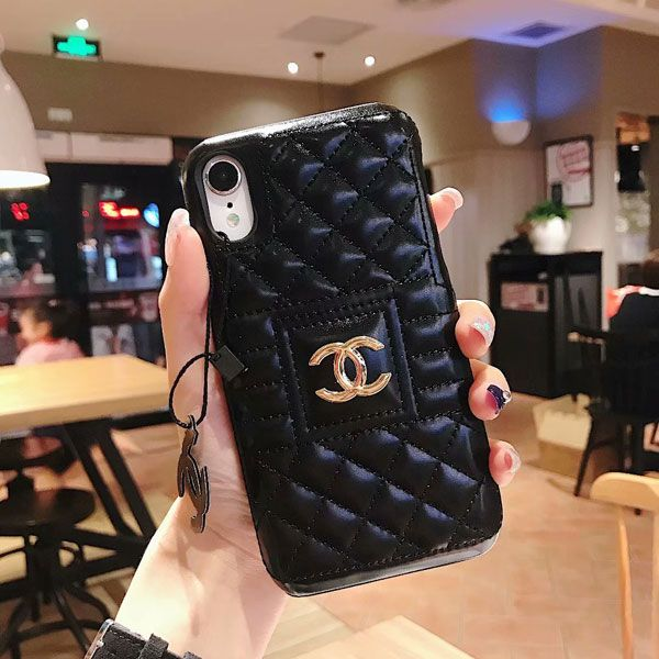 big sale ff9c9 332d2 leather chanel iphone x xs xr xs max 6 6s 7 8 plus case cover ...