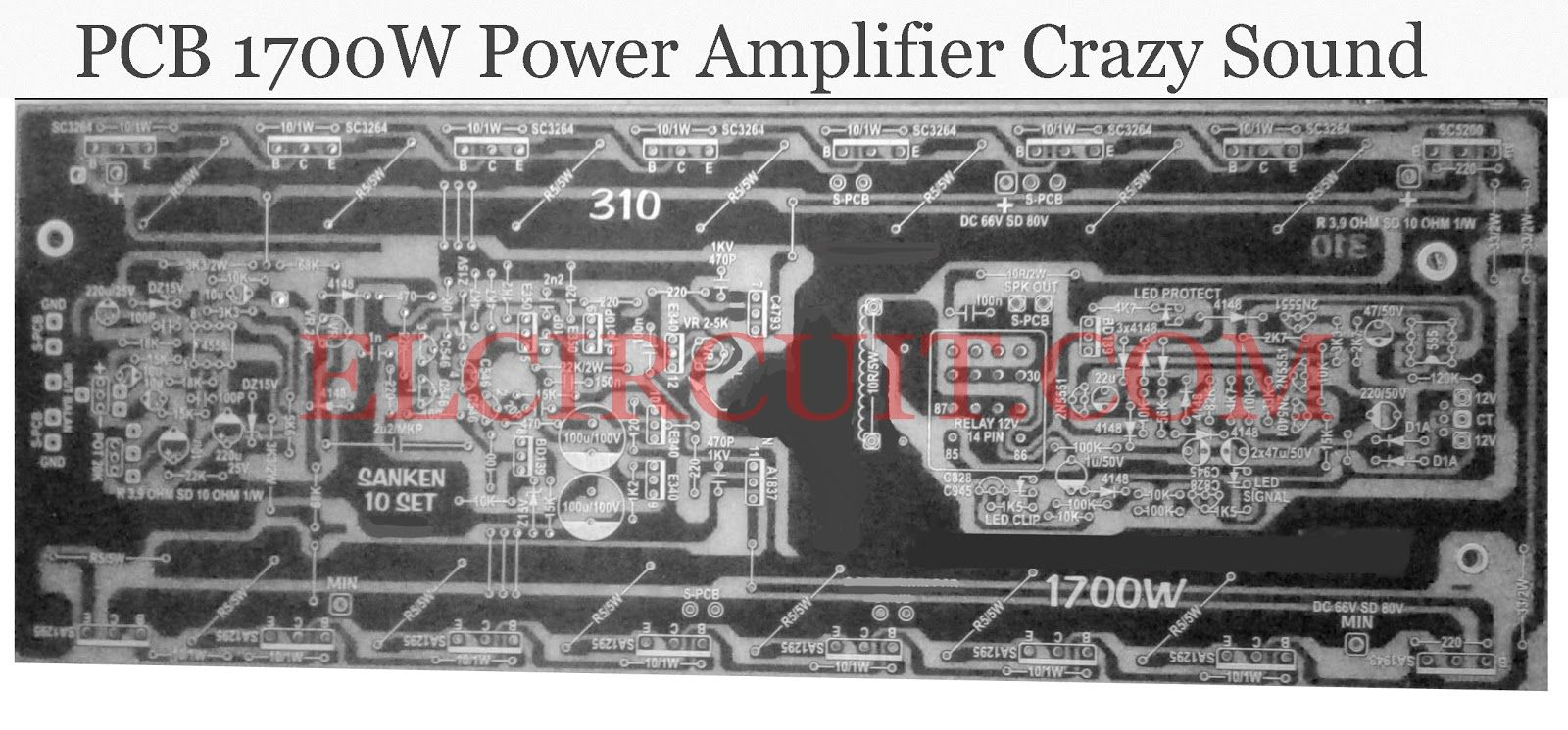 Crazy Sound 1700w Power Amplifier Circuit Technology Audio Diagram Pcb