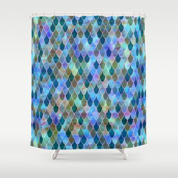 Mermaid Shower Curtain by Schatzi Brown