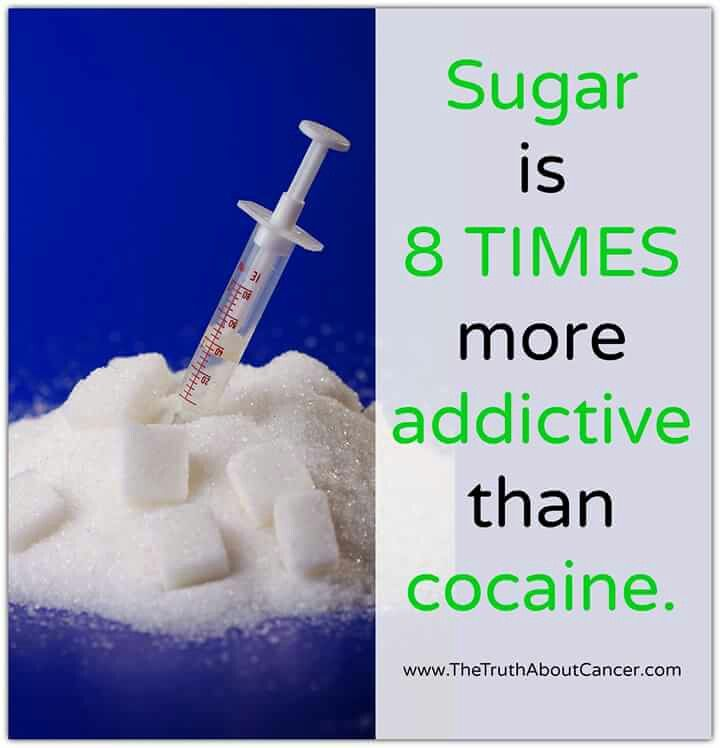 Sugar is addictive to m