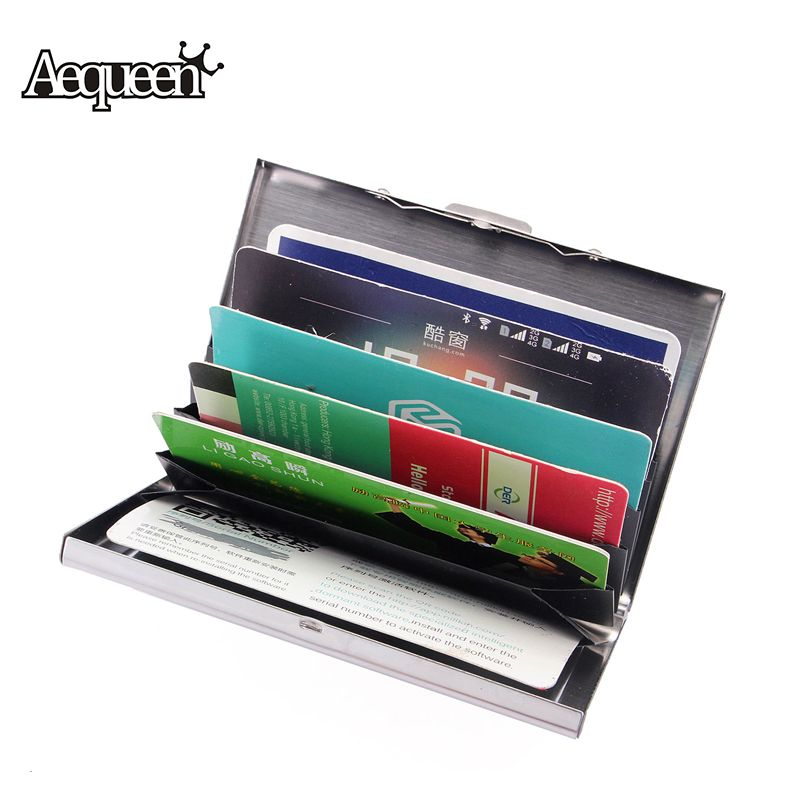 AEQUEEN New Waterproof Business ID Credit Card Holder Stainless ...