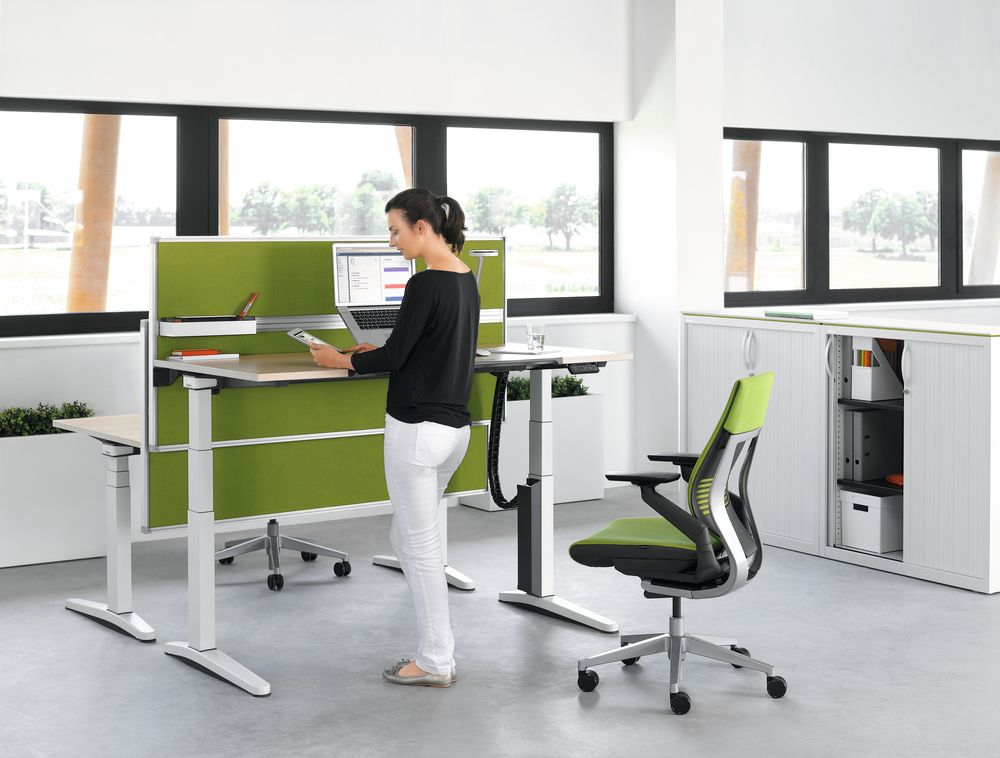 Suffering from back problems try our ergonomically for Standing office desk furniture