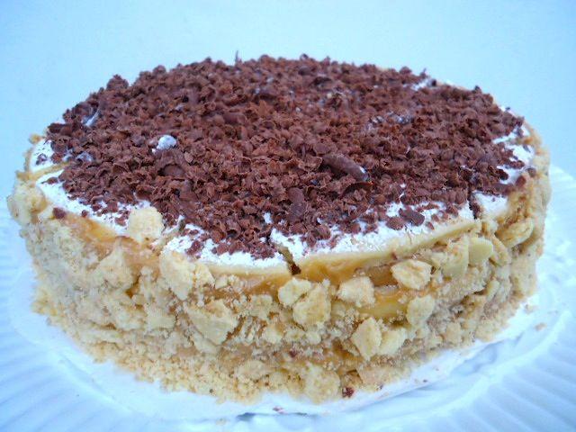 Torta de alfajor con chocolate organico