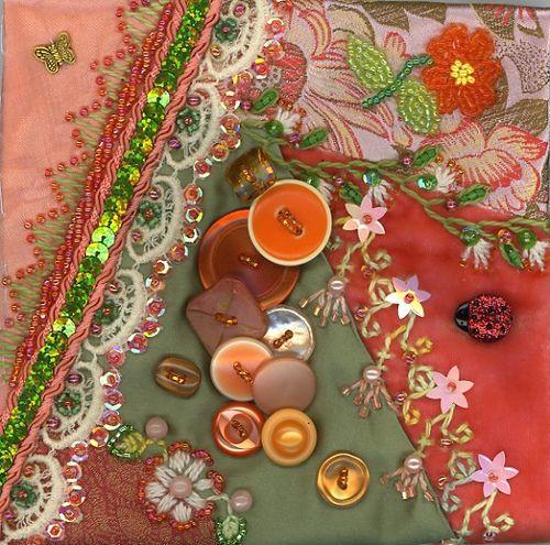 design inspiration...embellished crazy quilt blocks