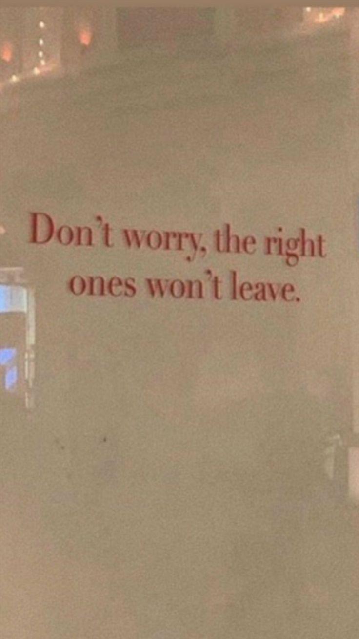 Ne tinquiète pas. Les bonnes personnes sont b … – #dich #the # people #nic
