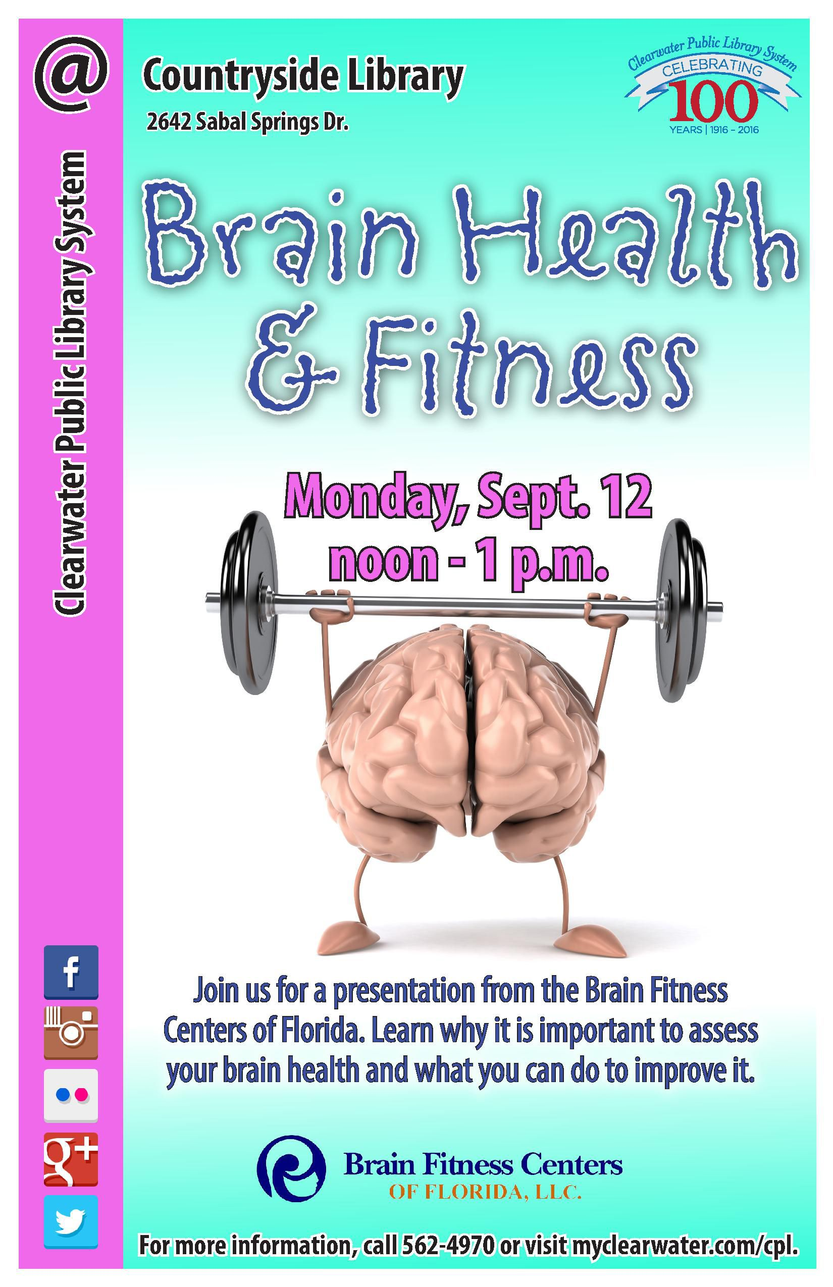 Join us for a presentation from the brain fitness centers
