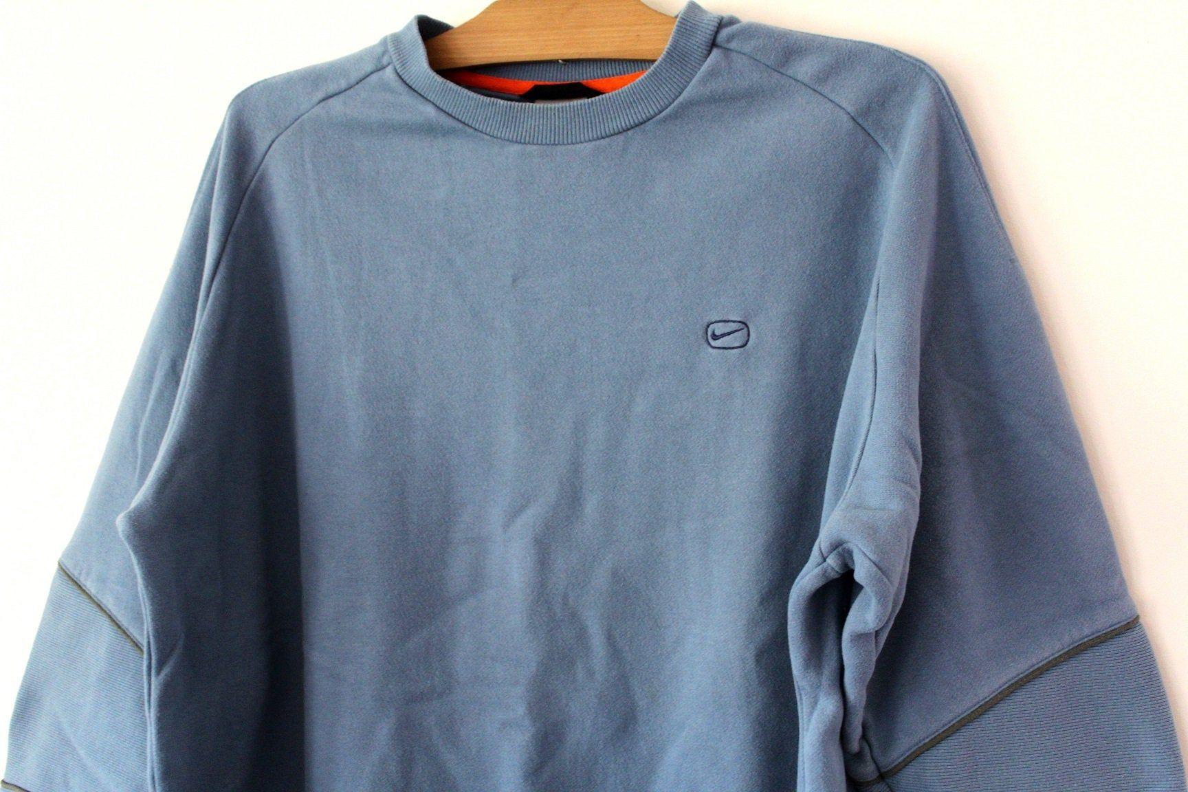 90 S Nike Sweatshirt Vintage Nike Jumper Blue Nike Hip Etsy Nike Sweatshirts Sweatshirts Running Sweater [ 1152 x 1728 Pixel ]