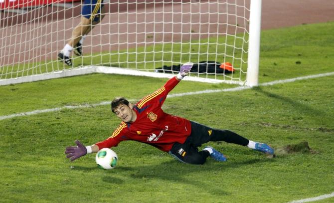 Casillas entrenándose en Son Moix con la selección en octubre de 2012 #seleccionespanola #LaRoja #diariodelaroja