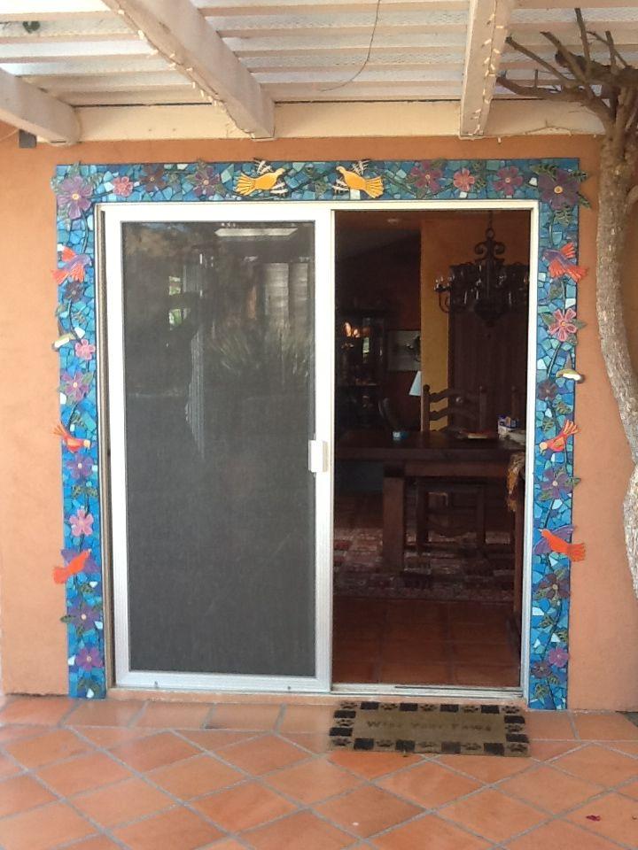 My mosaic work- love this door frame! | Art I created- mosaics ...