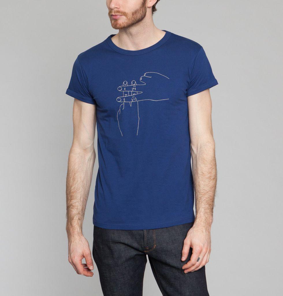 Tshirt Hashtag Bleu Marine Maison Labiche en vente chez L'Exception