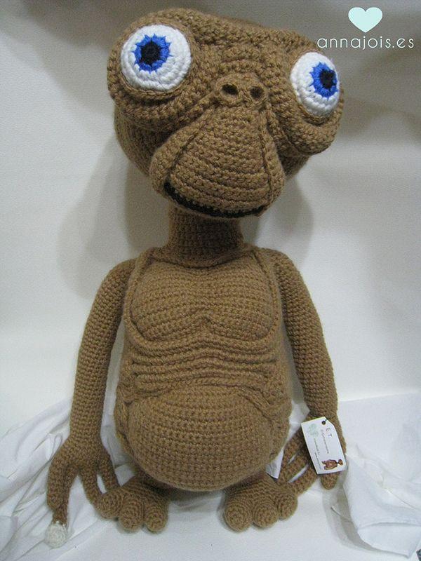 Amigurumi E.T. el extraterrestre   Pinterest   Chal de ganchillo ...