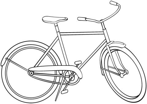 City Bicycle Coloring Page Malvorlagen Kostenlose Malvorlagen Ausmalen