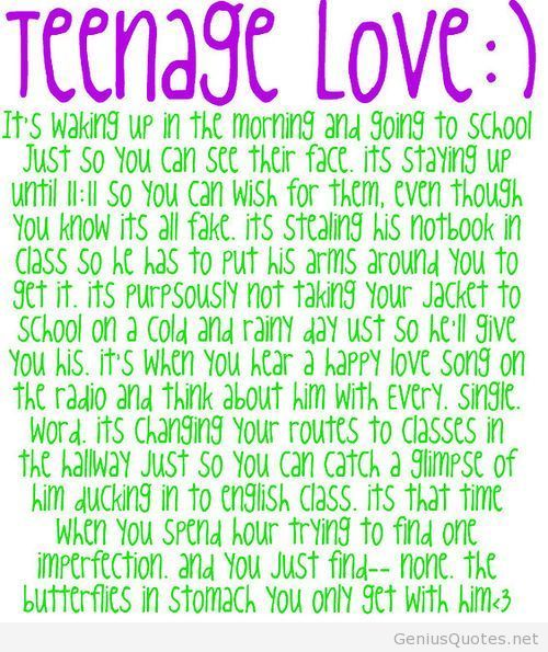 How you never forget! Teenage love quote tumblr / Genius ...