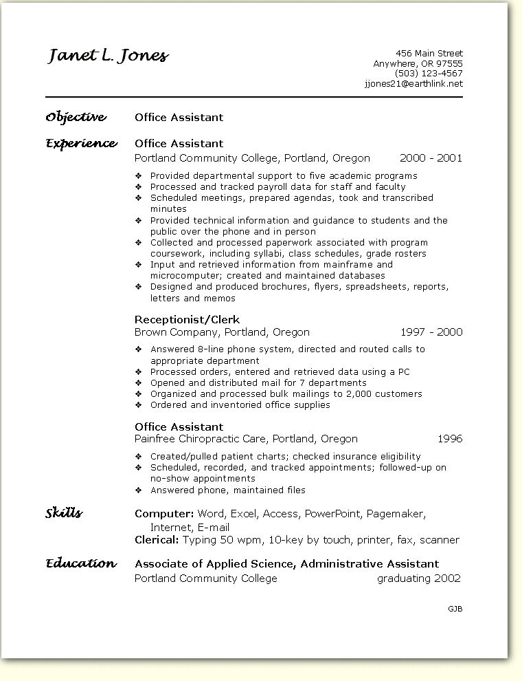 Office Assistant Resume Sles 28 Images Sales And