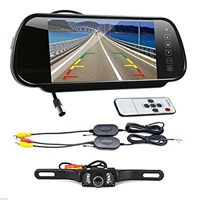 Car Rear View Backup LCD Monitor Wireless Parking Night Vision Camera Kit MY