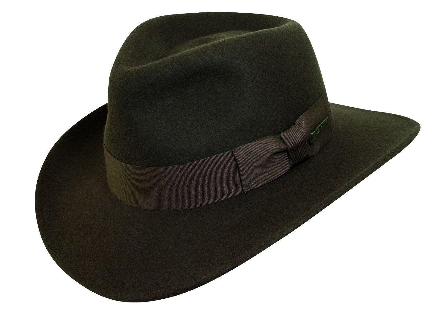 1a3c6f9fe955e Dorfman Pacific Men s Indiana Jones Wool Felt Crushable Outback Hat