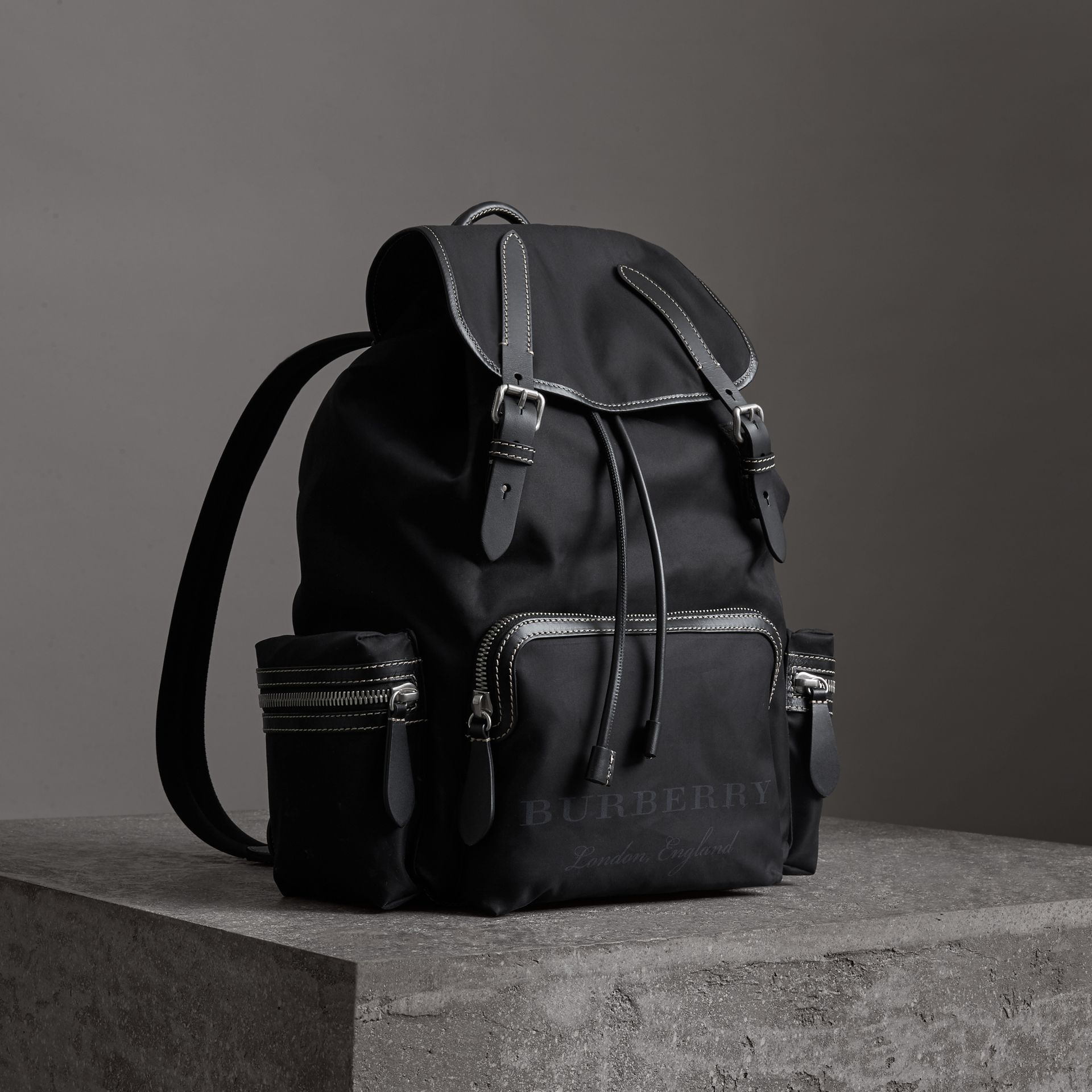 e9ac3dc1c09a BURBERRY The Large Rucksack in Cotton Canvas.  burberry  bags  leather   lining  canvas  backpacks  cotton