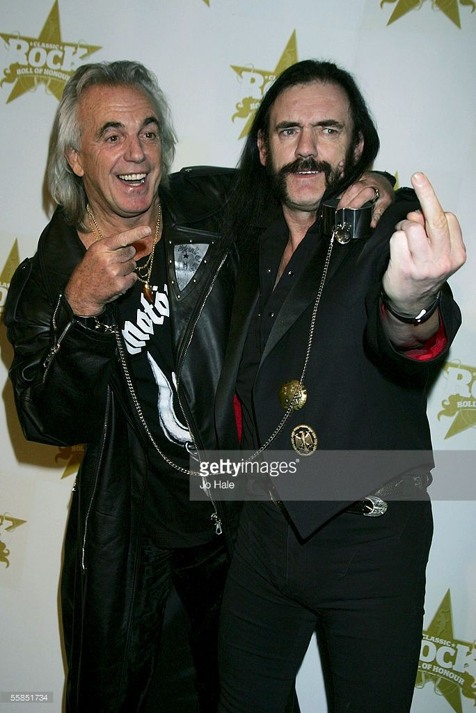 Peter Stringfellow And Lemmy Kilmister Rock Roll Of Honour At Cafe De Paris On October 4 2005 In London Lemmy Classic Rock And Roll Album Of The Year