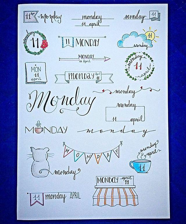 Monday Bullet Journal Inspiration Más