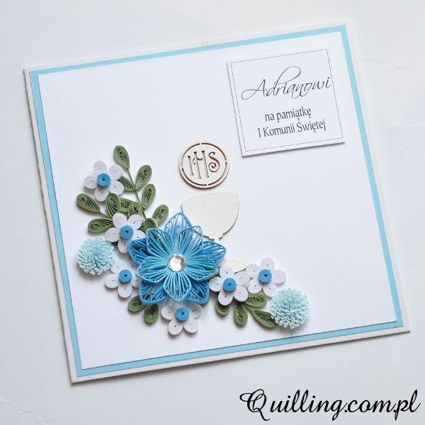 Dla Chlopca Quilling Com Pl Kartki Okolicznosciowe Greeting Cards Quilling Cards Quilling Craft Paper Quilling