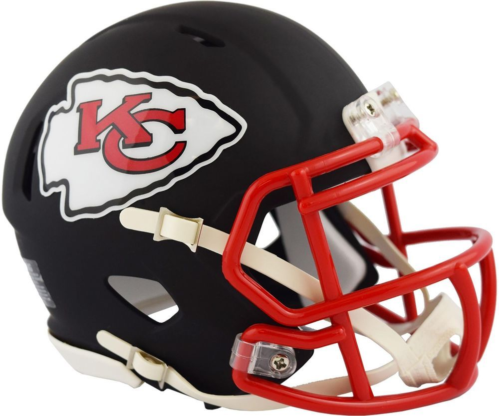 120bb81e0cc Riddell Kansas City Chiefs Black Matte Alternate Speed Mini Football Helmet
