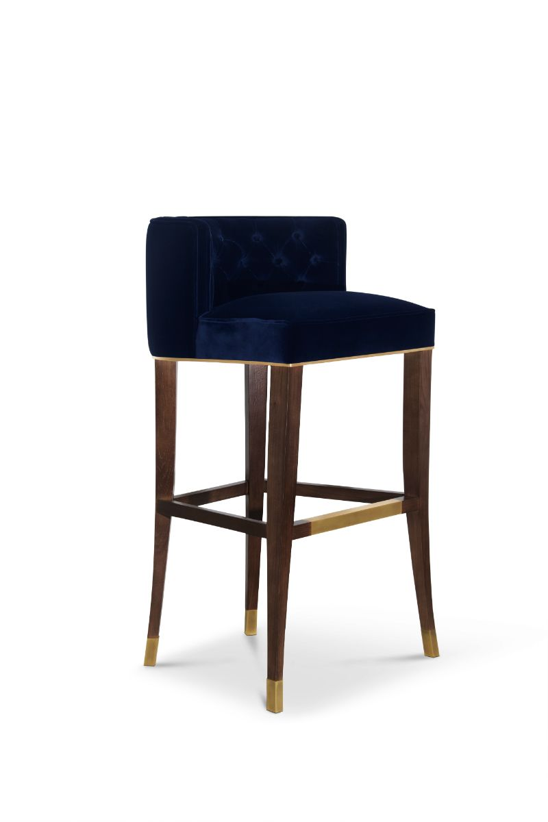 Kelly Wearstler Furniture Cine Bar Stool Kelly Wearstler Luxury Chairs Designer Bar Stools
