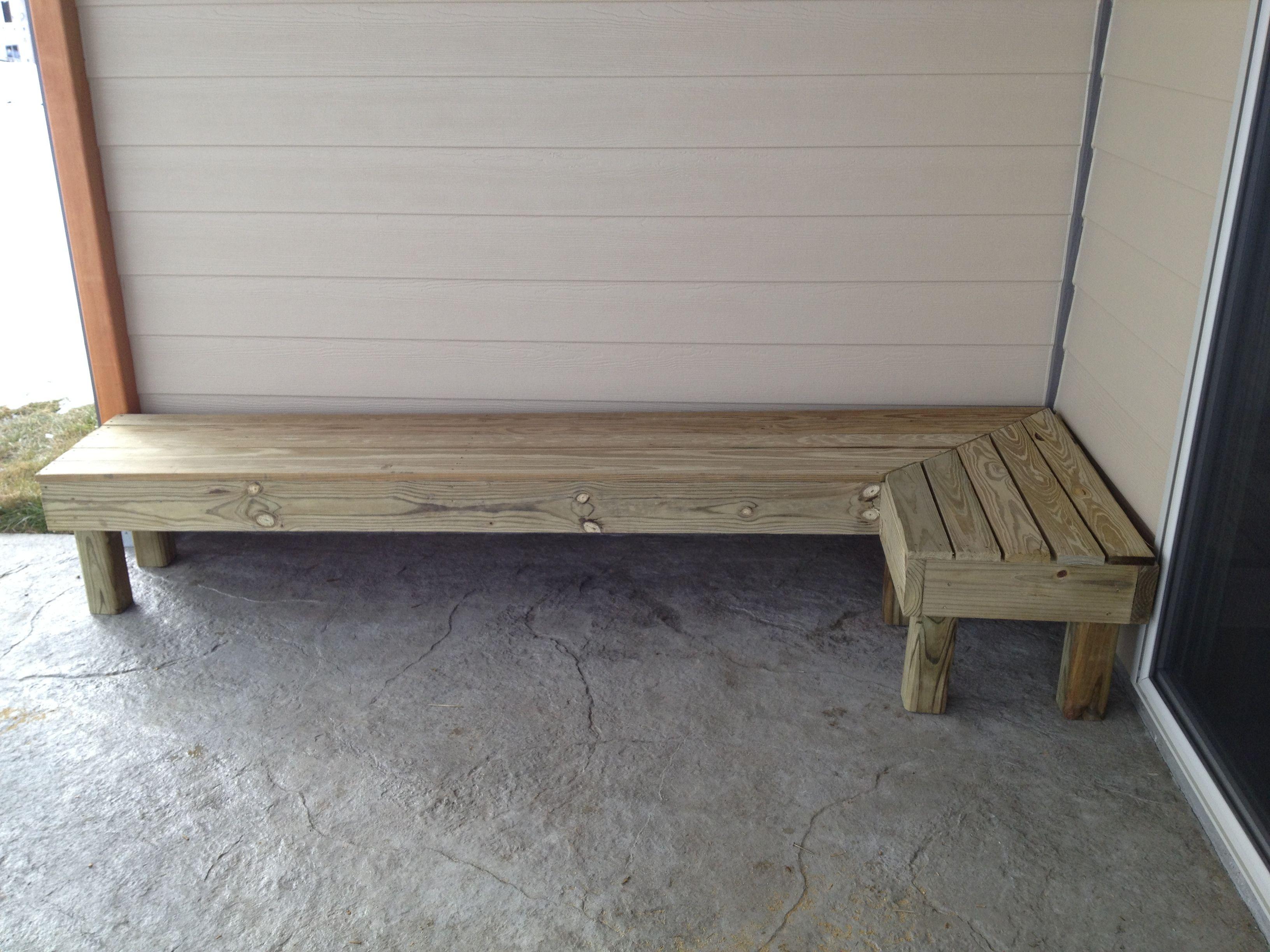 wrap around patio bench