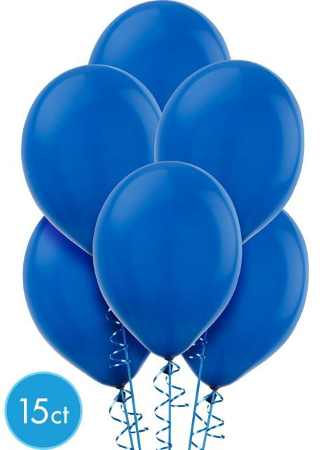 Royal Blue Latex Balloons 12in 15ct