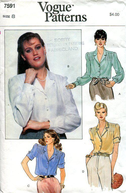 Shoulder Pleat Blouse Vogue Vogue Patterns Classic Chic