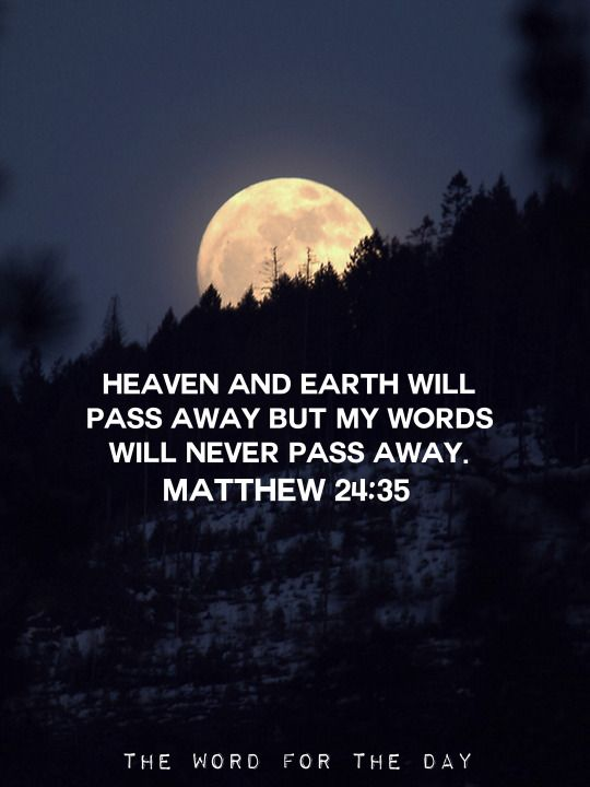 Moon Night Sky Christian Quotes Inspiration Bible Verse The