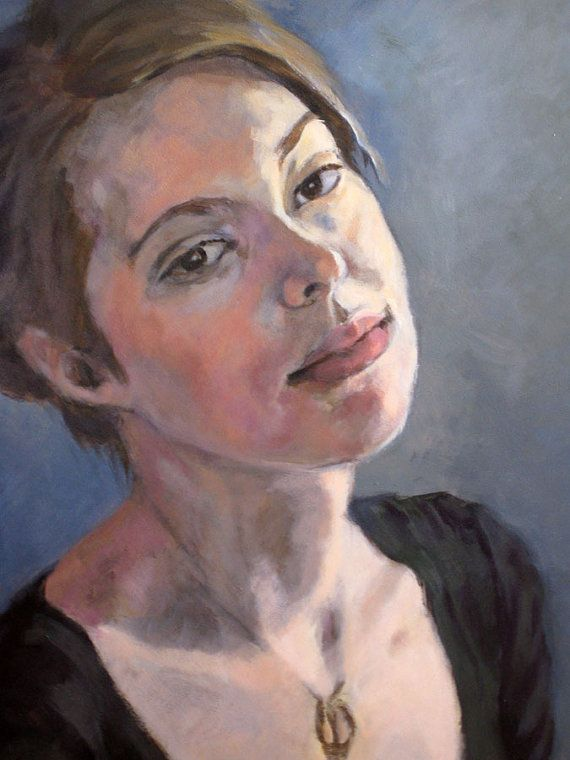 custom portrait oil painting acrylic painting 12 x 16 inches