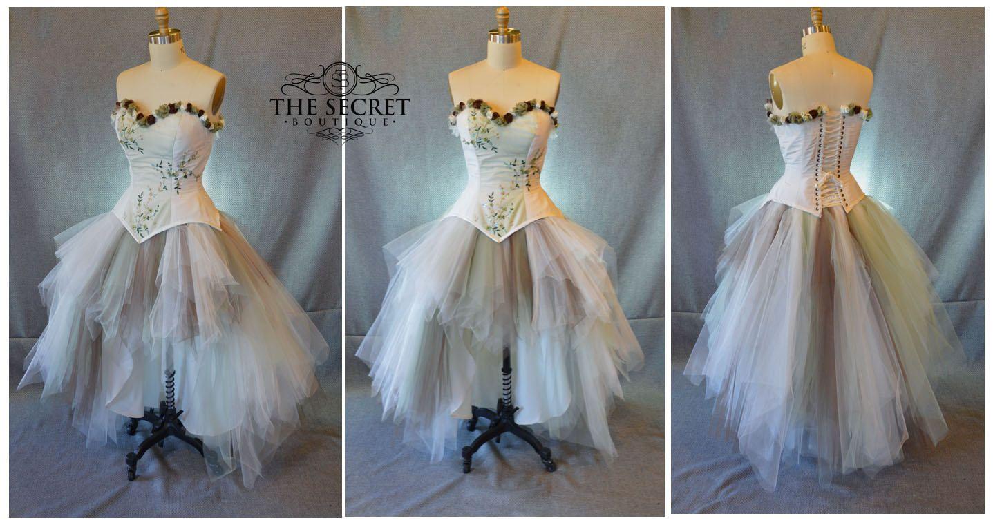 Steampunk wedding dresses  Fairytale wedding dresssteampunkwoodland wedding dressalternative