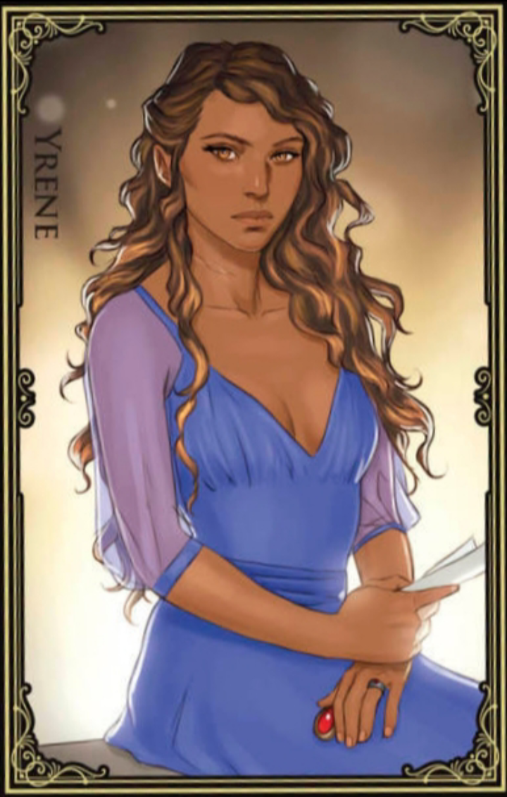 Yrene Card Art By Merwild Throne Of Glass Books Throne Of Glass Characters Throne Of Glass Fanart