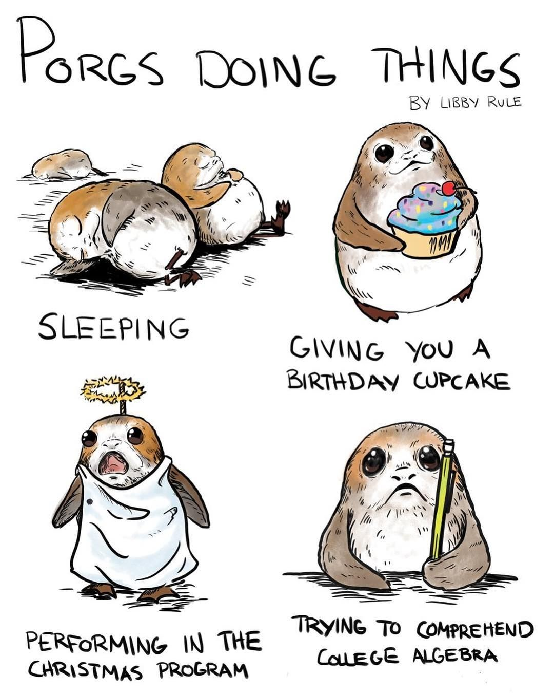 Star Wars Is My Shit Not To Mention This Cute Animal They Put In The Most Recent Movie Porg Porgstarwars Star Wars Humor Star Wars Memes Star Wars Fandom
