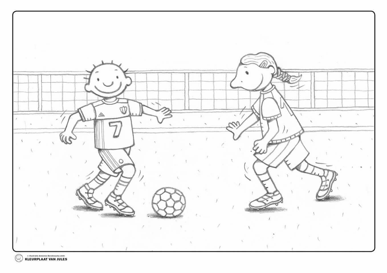 Thema Voetbal Kleurprent Voetbal Thema Sportdag