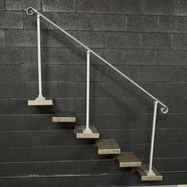 Best 6 7 Or 8 Foot Steel Crown Molding Handrail For Stairs 400 x 300